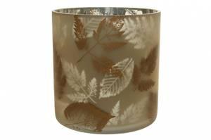 Bilde av Lysglass med blader H 15cm
