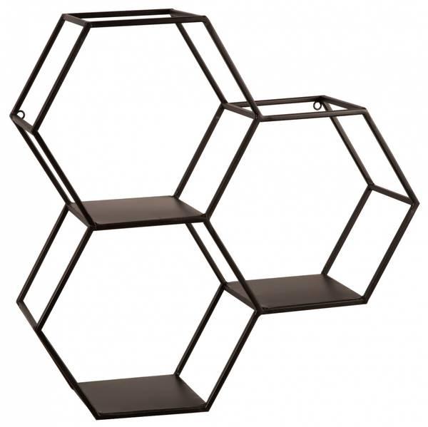 Hylle  sort metall 46x46x13cm
